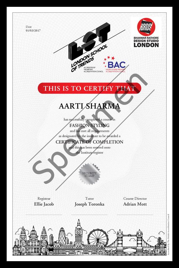 LST Certificate